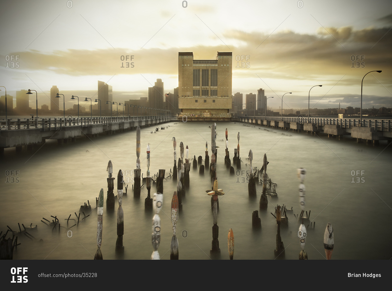 View of Pier 34 above the Holland Tunnel in New York City