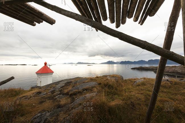 Tranquil seascape from Lofoten Islands, Norway