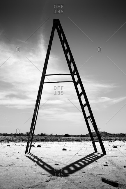 Lone ladder at Salton Sea, California