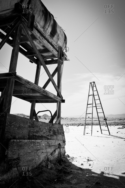 Deserted landscape at Salton Sea, California