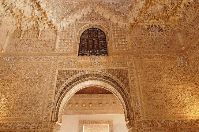 Interior of Alhambra, Granada, Spain