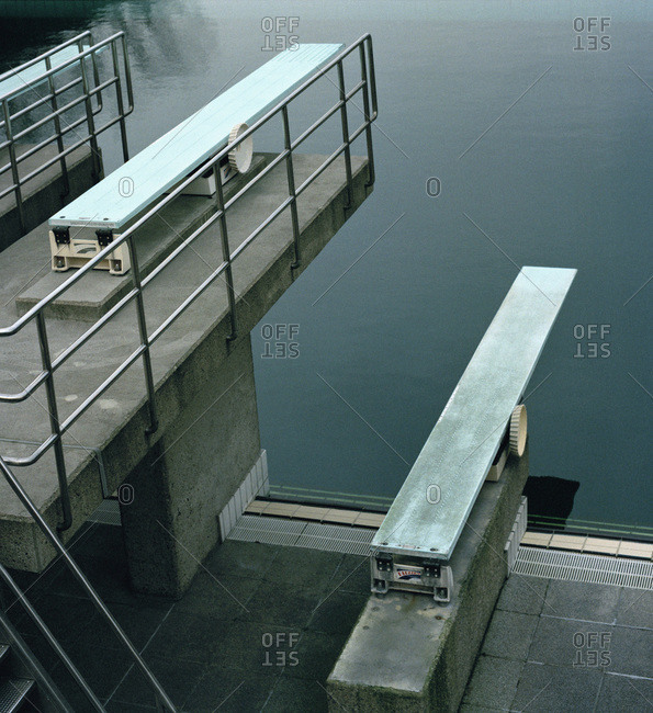 Three diving boards