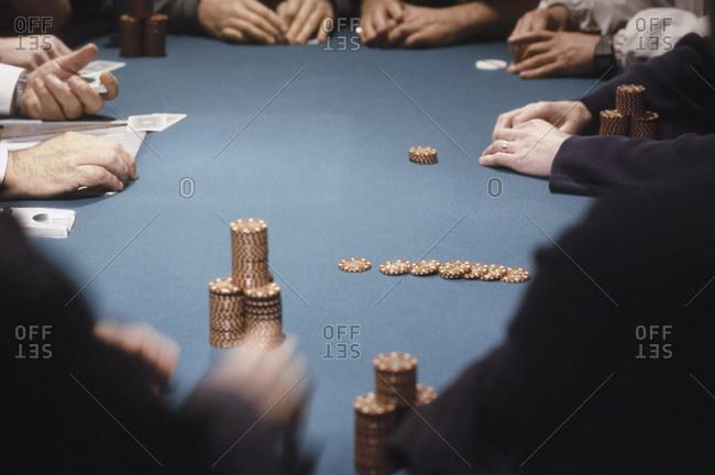 Hand of cards at a casino, Las Vegas, Nevada, USA