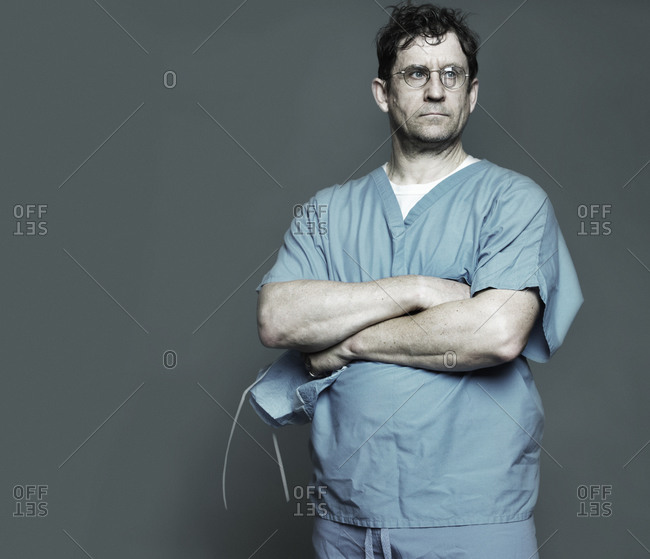 a healthcare practitioner wearing scrubs
