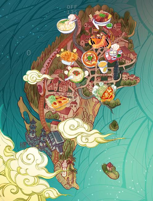 Food map of Taiwan