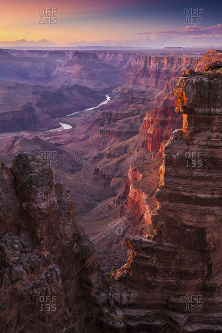 A view of the vast grand canyon