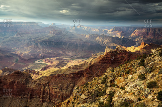 Afternoon light on the Grand Canyon and Colorado River