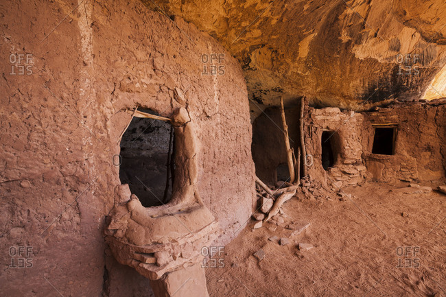The Ancestral Puebloan cliff dwelling site known as Moon House Ruin Grand Gulch Primitive area in southern Utah