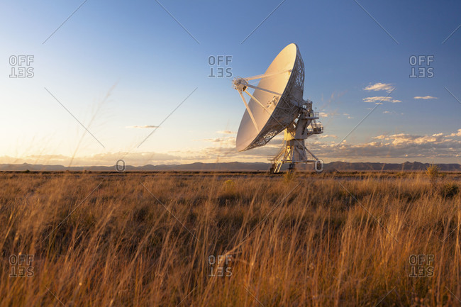 One of the 27 antennas that make up the Very Large Array Southwestern New Mexico near Pie Town
