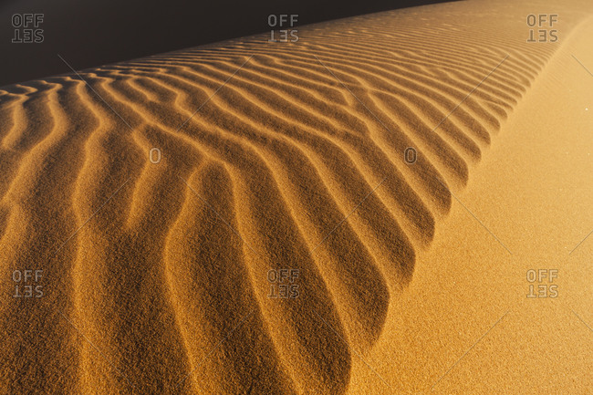 Africa, Namibia, Namib Naukluft National Park, View of sand dunes at the naravlei in the namib desert