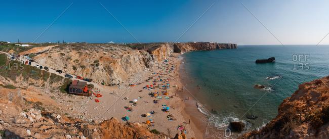 Portugal, Algarve, Sagres, View of tonel beach