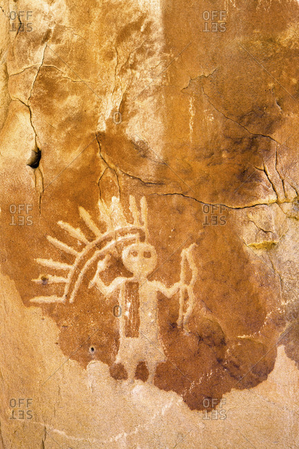 A petroglyph of the Monster Slayer, one of the Hero Twins