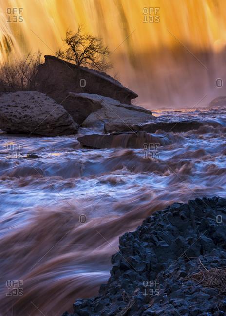 Grand Falls on the Little Colorado River in Arizona