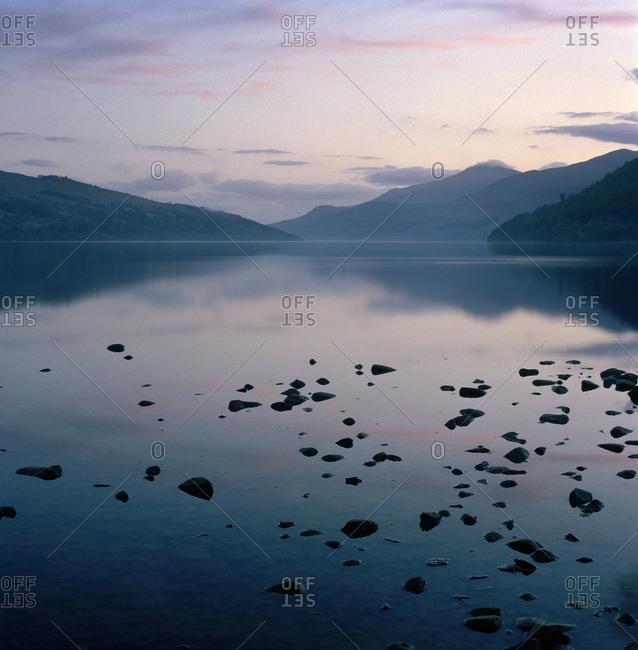 Peaceful evening landscape scene