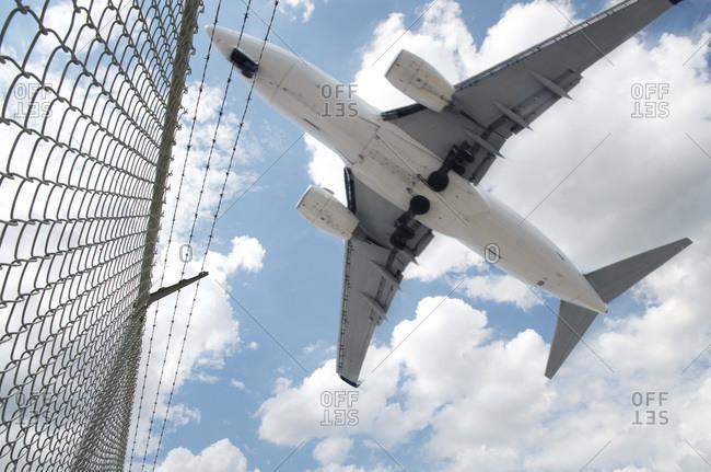 Jet Landing at Pearson International Airport, Toronto, Ontario, Canada