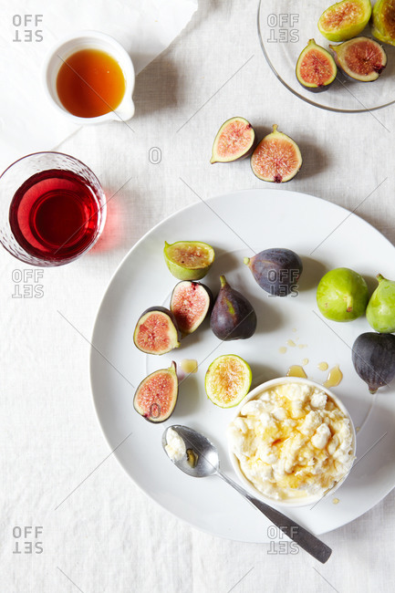 figs, honey and cheese