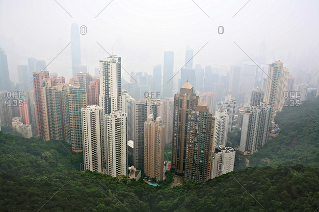 view of hong kong's city skyline