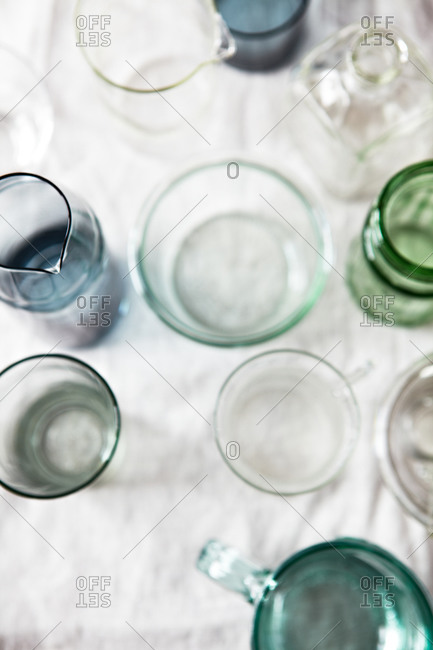 collection of glasses and jars