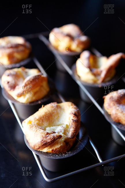 popovers fresh out of the oven