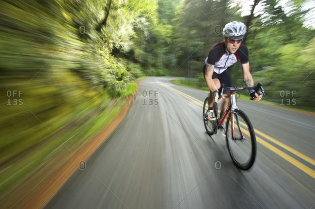 a man riding in Marin Headlands, california,a