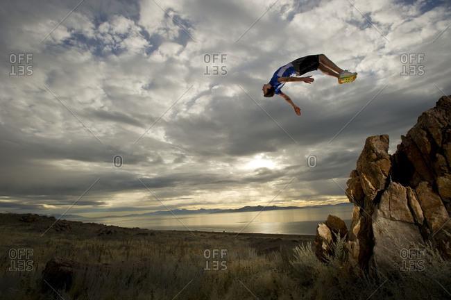 man mid flip
