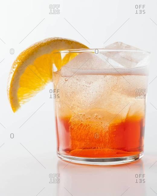 Spritz cocktail with bitter orange liqueur