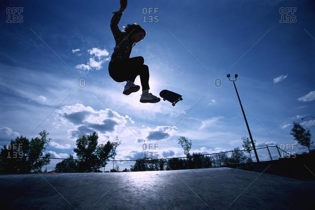 Riding At Skate Park