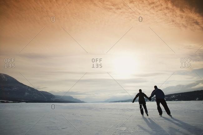 Couple Goes Skating