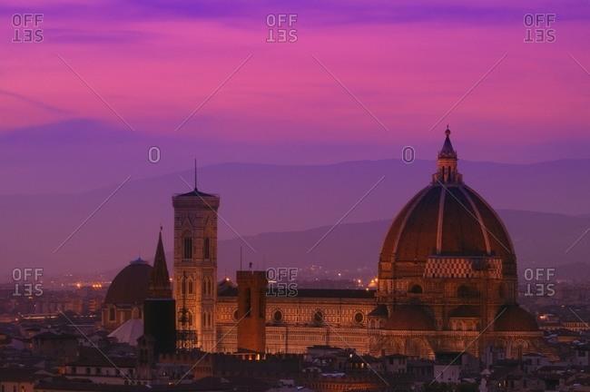 Duomo At Dusk in Florence Tuscany Italy