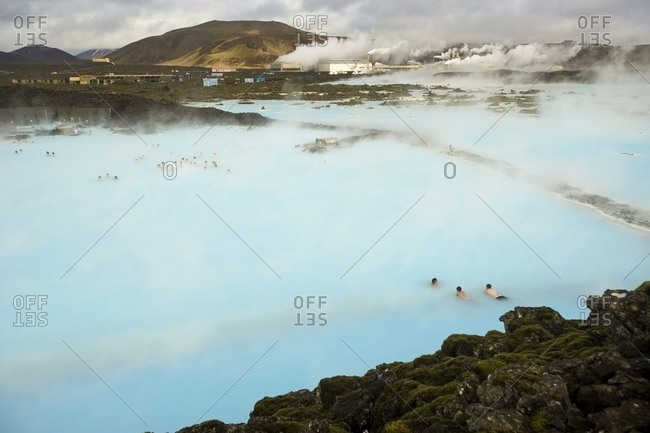 Blue Lagoon, Geothermal Hot Springs Near Reykjavik, Iceland