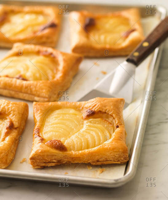 Apple tarts fresh out of the oven