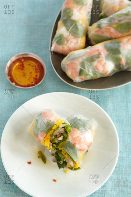 Vietnamese shrimp spring roll
