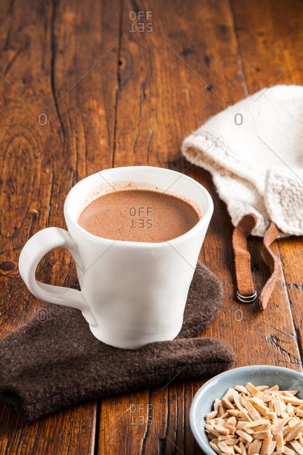 A mug of hot cocoa