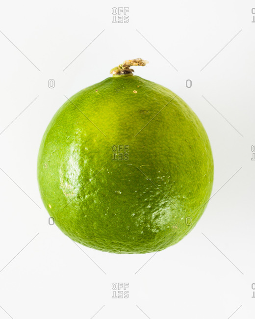 Key lime isolated on a white background