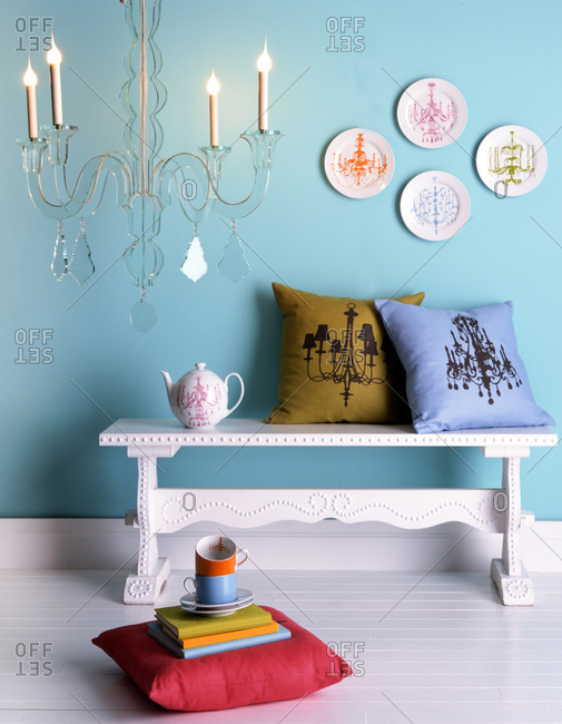 Home decor with a chandelier theme