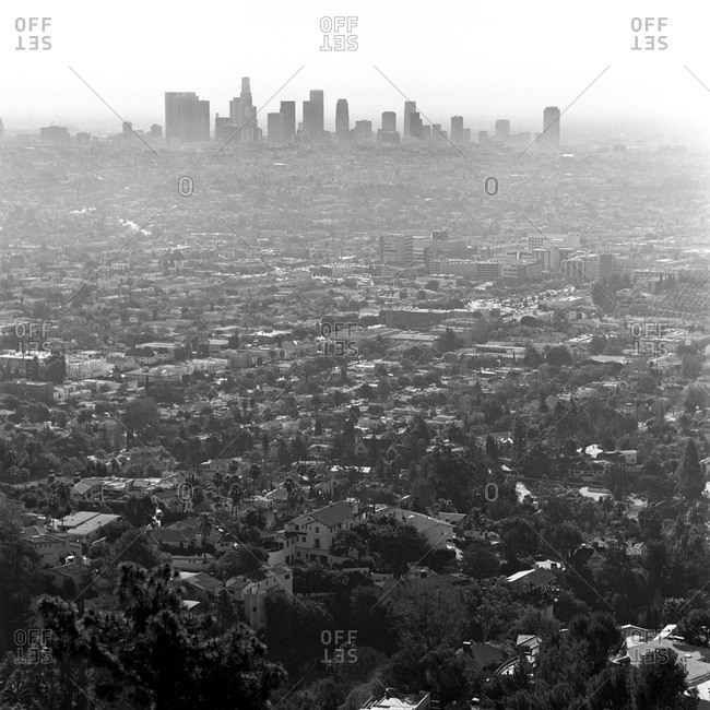 Cityscape of Los Angeles, California, USA