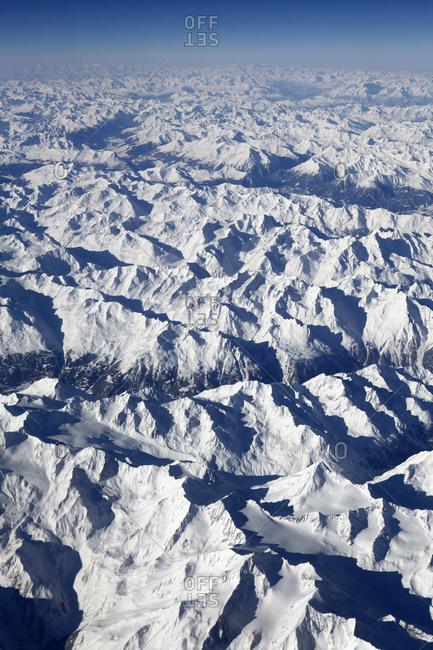 View of snowy alps, Switzerland
