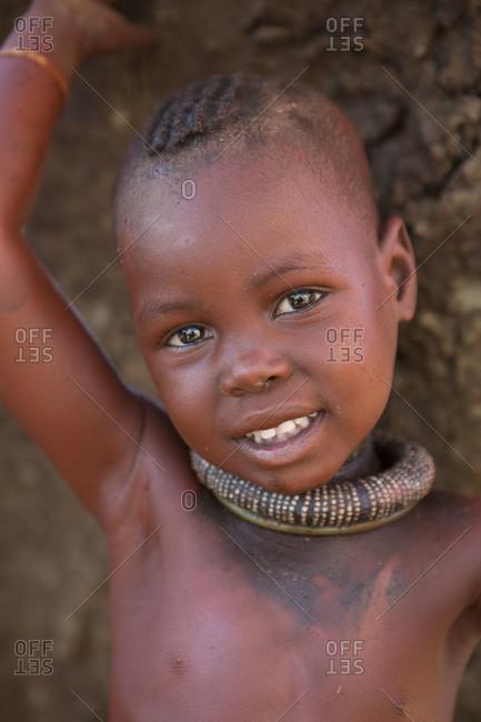 Smiling Himba child in Namibia