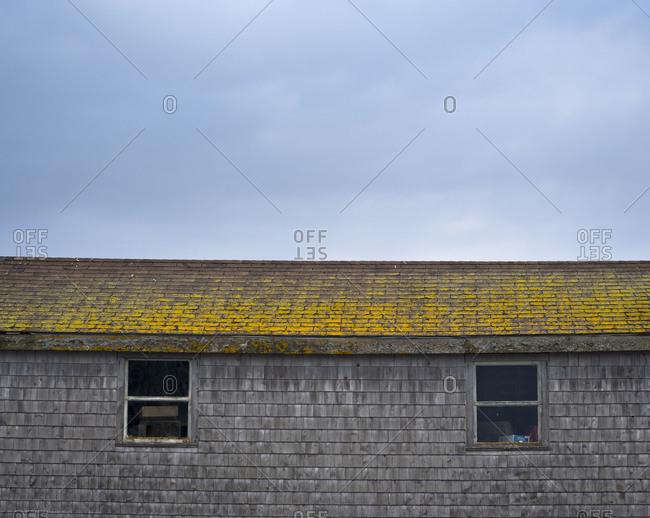 Top of storage building in Peggys Cove, Nova Scotia, Canada