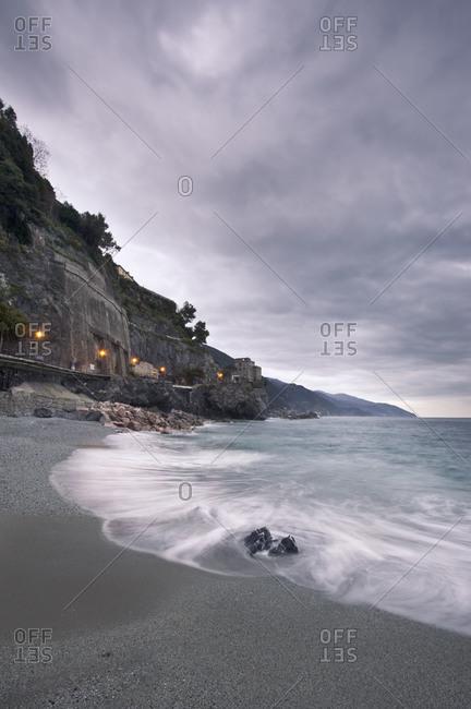 Coastline of Monterosso al Mare, Italy
