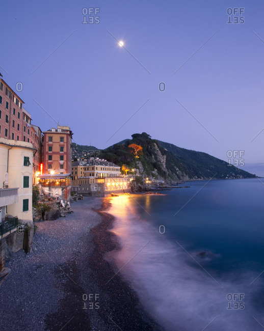 Camogli, a small fishing village in Liguria, Italy