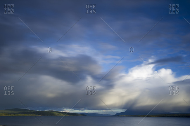 Clouds above water in Yukon Territory, Canada