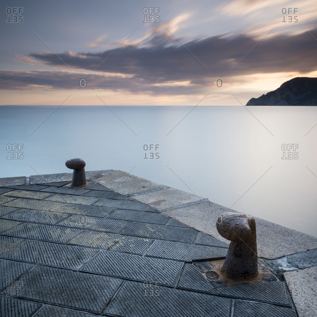 Tranquil seascape in Cinque Terre, Italy.