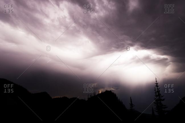 Lightning storm in Glacier National Park