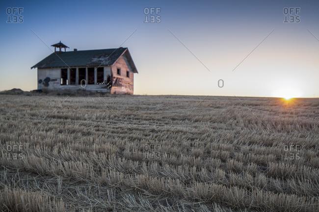 A deserted schoolhouse in Washington