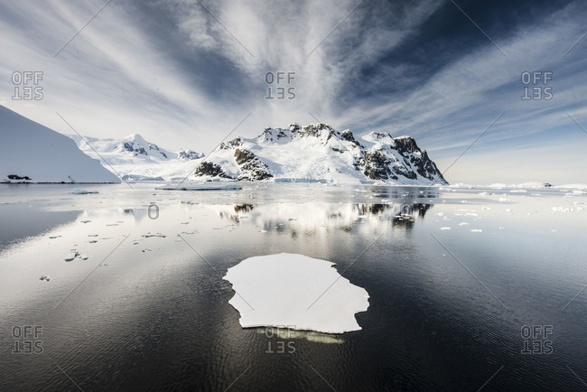 Floating iceberg in sunshine, Antarctica