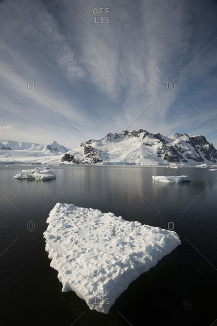 Floating iceberg in Antarctica - Offset