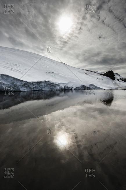 Tranquil scene in Antarctica - Offset