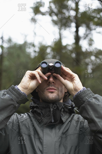 Man with binoculars - Offset Collection