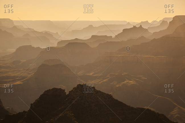 A view of distant canyons.